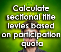 How to calculate sectional title levies based on participation quota