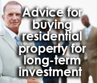 Advice for investing in property
