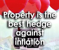 Hedge against inflation with property