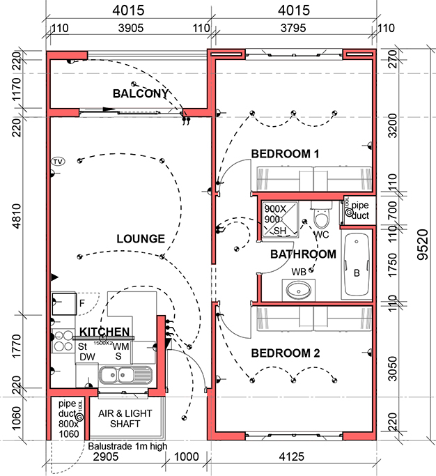 2D-Plan---2-Bed-T1-North